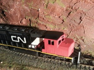 CN SD40-2W 5332 after cab replacement